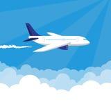 Avión en el ejemplo del vector del cielo Fotografía de archivo