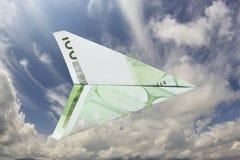 Avión euro Imagenes de archivo