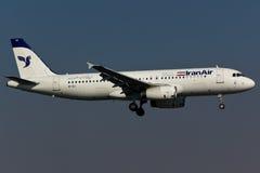 Avión Iran Air de Airbus A320 Fotos de archivo libres de regalías
