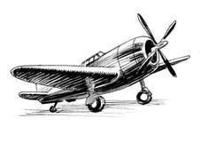 Avión militar ilustración del vector