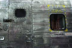 Avión militar del metal Fotografía de archivo