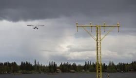 Avión pontón en acercamiento fotos de archivo libres de regalías