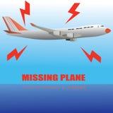 Avión que falta Imagen de archivo libre de regalías