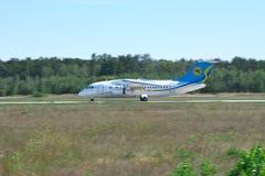 Avión regional de Antonov An-148 Foto de archivo libre de regalías