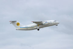 Avión regional de Antonov An-148 Fotografía de archivo libre de regalías