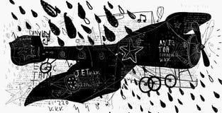Avión retro Fotografía de archivo libre de regalías