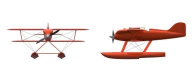 Avión retro del flotador Foto de archivo libre de regalías