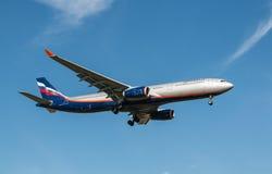 Avión ruso de Aeroflot de las líneas aéreas Imagenes de archivo