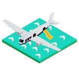 Avión salpicado abajo Ilustración del Vector