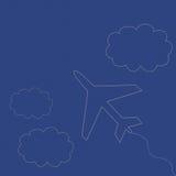 Avión y nubes Fotos de archivo