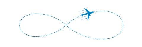 Avión y trayectoria Imagenes de archivo