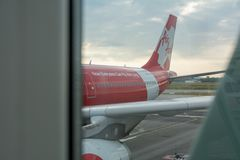 Aviões Air Asia Imagens de Stock