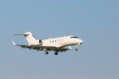 Aviões brancos da aviação do negócio fotos de stock