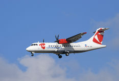 Aviões checos das linhas aéreas Fotografia de Stock Royalty Free
