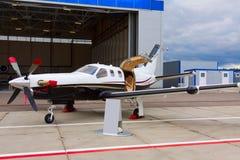 Aviões confidenciais pequenos da hélice com um motor Imagem de Stock