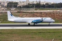 Aviões da carga da turboélice Foto de Stock