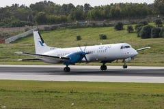 Aviões da carga da turboélice Fotos de Stock
