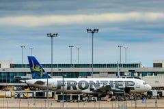 Aviões da fronteira na terra no diâmetro Imagem de Stock
