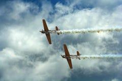 Aviões da hélice durante a mostra de ar Imagens de Stock
