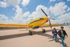 Aviões da luta contra o incêndio em uma exposição do airshow Imagem de Stock Royalty Free