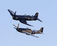 Aviões da segunda guerra mundial do vintage Fotos de Stock