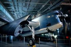 Aviões da segunda guerra mundial expostos no museu da marinha dos E.U. Imagem de Stock Royalty Free