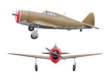Aviões da segunda guerra mundial isolados no fundo branco Imagem de Stock Royalty Free
