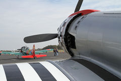 Aviões da segunda guerra mundial no indicador Fotografia de Stock