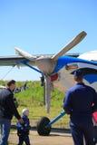 Aviões da turboélice Front View Imagem de Stock Royalty Free