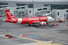 Aviões de Air Asia Foto de Stock