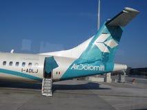 Aviões de Air Dolomiti Imagens de Stock Royalty Free