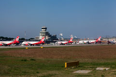 Aviões de Airberlin em Berlin Germany Imagens de Stock Royalty Free