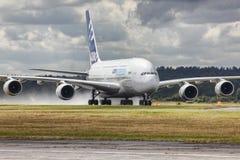 Aviões de Airbus A380 Imagens de Stock