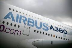 Aviões de Airbus A380 Imagem de Stock Royalty Free