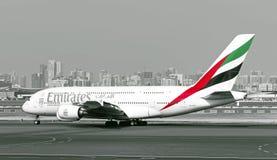 Aviões de Airbus A380 das linhas aéreas dos emirados Fotografia de Stock Royalty Free