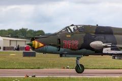 Aviões de ataque poloneses do ajustador de Sily Powietrzne Sukhoi Su-22 da força aérea fotografia de stock royalty free