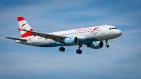 Aviões de Austrian Airlines Airbus A320-200 Imagens de Stock Royalty Free