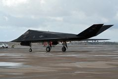 Aviões de avião de combate do discrição do noitibó-americano F-117 Foto de Stock Royalty Free