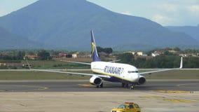 Aviões de baixo Fares Airline Ryanair irlandês filme