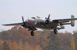 Aviões de bombardeiro da segunda guerra mundial B-25 Mitchell Fotos de Stock