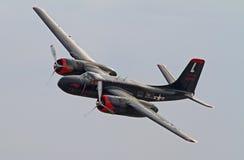 Aviões de bombardeiro do invasor da segunda guerra mundial A-26 Foto de Stock