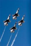 Aviões de combate do F-16 Thunderbird Foto de Stock