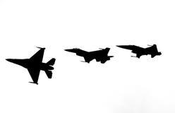 Aviões de combate que quebram o sumário da formação Imagem de Stock Royalty Free