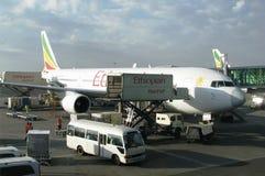 Aviões de Ethiopian Airlines foto de stock royalty free