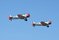 Aviões de Geico Skytypers em voo Fotos de Stock Royalty Free