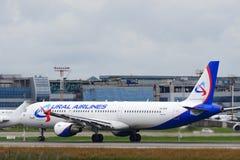 Aviões de jato de Airbus A321 Fotografia de Stock Royalty Free