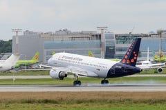 Aviões de jato de Airbus A319 Imagem de Stock Royalty Free