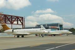 Aviões de jato do negócio Foto de Stock Royalty Free