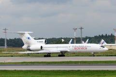 Aviões de jato do Tupolev Tu-154 Foto de Stock