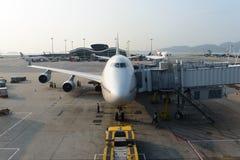 Aviões de jato entrados no aeroporto Fotos de Stock Royalty Free